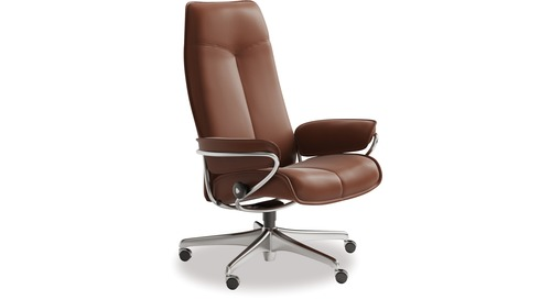 Stressless® City Leather Home Office Chair - High Back  sc 1 st  Lynfords : stressless recliner nz - islam-shia.org