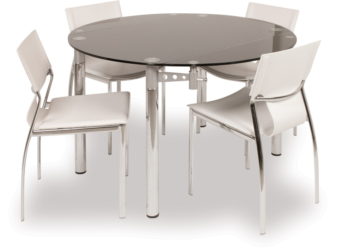 Dining Table Palermo Black Glass Dining Table